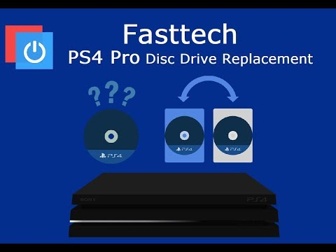 PS4 Pro Disc Drive Replacement (Fix Disc Reading Errors, Not Playing Games)