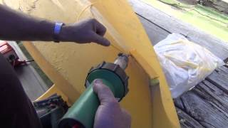 How to plastic weld a Polyethylene kayak - kayak repair