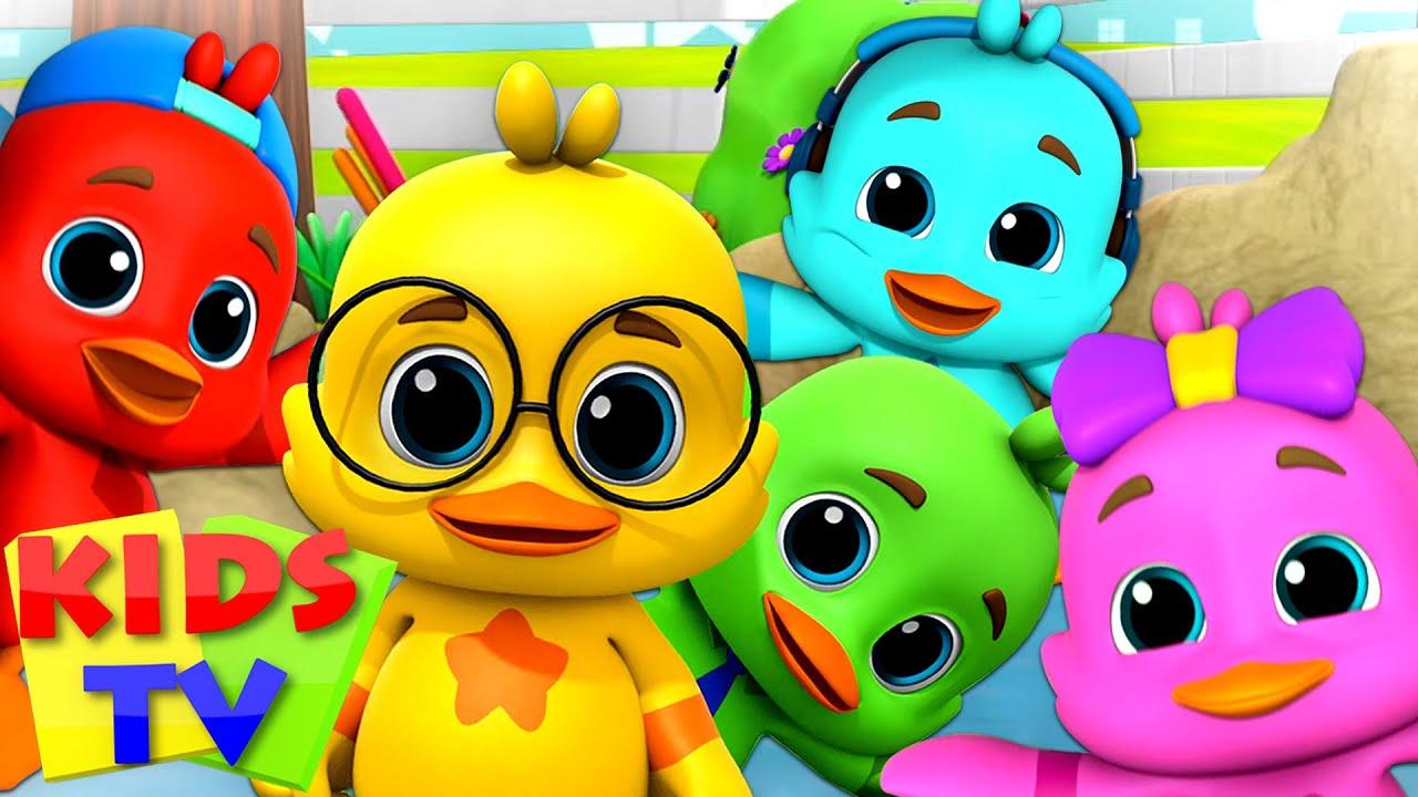 Five Little Ducks   Boom Buddies Cartoons   Baby Songs   Kids Tv Nursery Rhymes