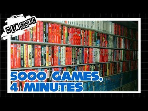 5000 video games in less than 4 minutes in one room