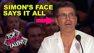 SIMON COWELL'S FACE!! America's Got Talent Jaw Dropping Magician Auditions