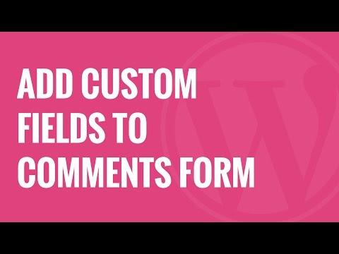 Add fields to comments wordpress