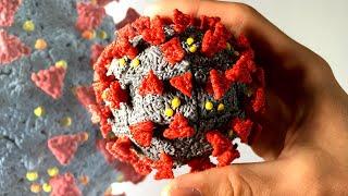 Coronavirus Rubik's Cube - 3D Drawing