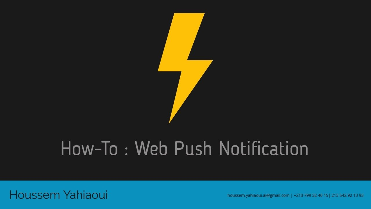 How-To : Push Notification Integration in NodeJS Application