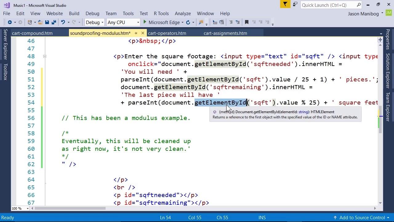 JavaScript Naming Conventions - MTA Introduction to Programming Using  JavaScript tutorial