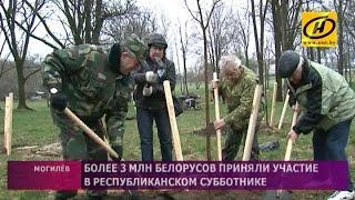 Как прошёл Республиканский субботник в регионах Беларуси?