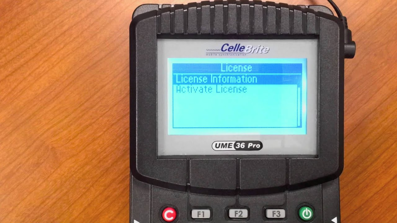 Cellebrite License Update