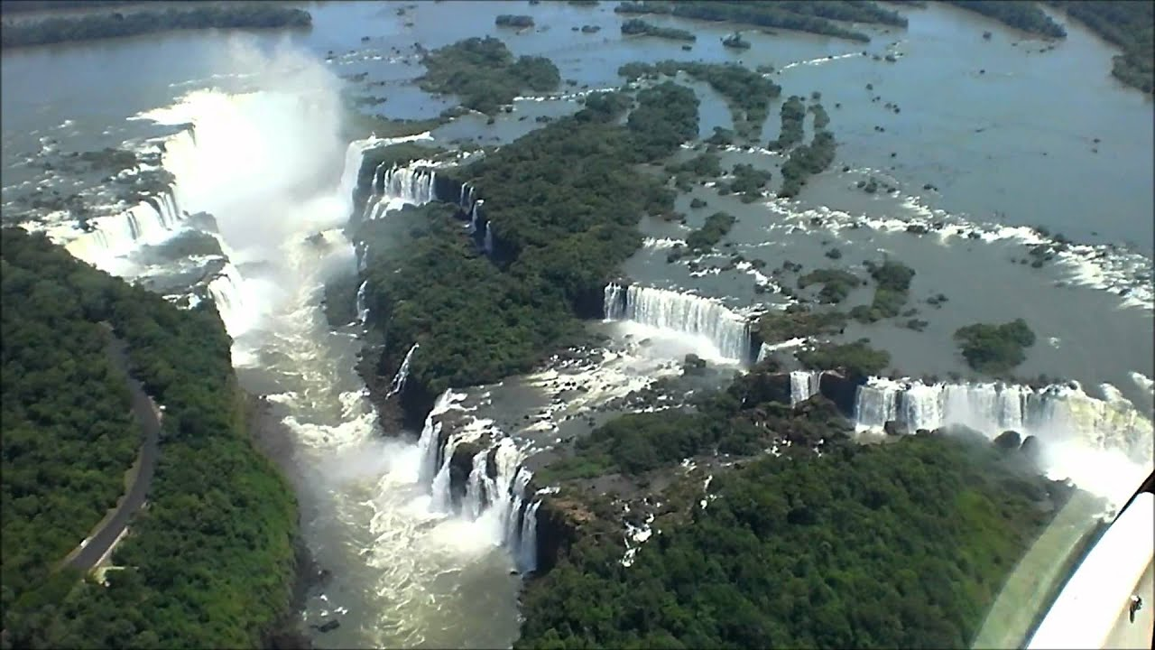 Fall Waterfall Wallpaper Helicopter Tour Of Igua 231 U Falls Brazil Youtube