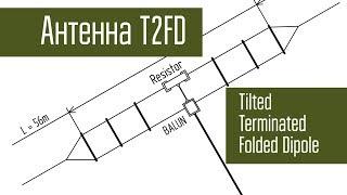 Антенна T2FD от фирмы Радиал. Зима, лес, костёр, радиосвязь, короткие волны.