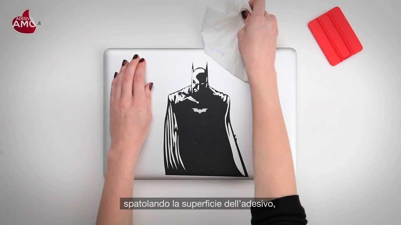 Tutorial Applicazione Macbook Sticker Batman Vinyl Decal - Vinyl decals for macbook