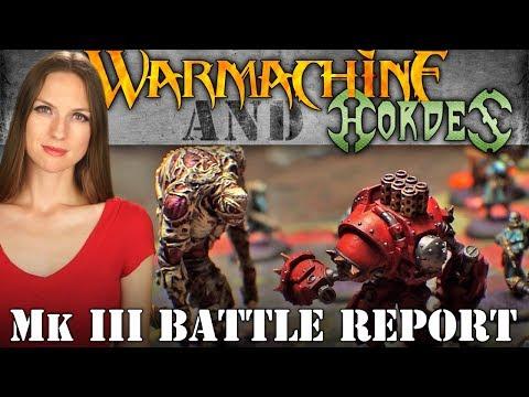Khador v Grymkin 50pt Battle Report - Warmachine & Hordes