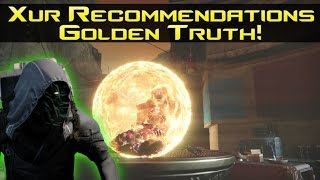 destiny xur stock recommendations golden truth no new exotics 21 10