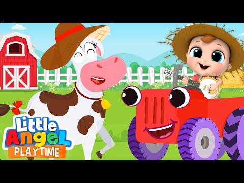 baby-john-visits-a-farm-|-a-cow-named-lola-|-little-angel-kids-songs
