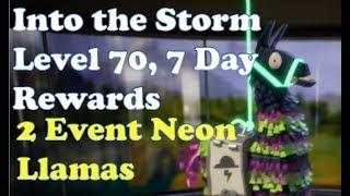 Fortnite StW - Lvl 70, 7 Tage Belohnungen und 2 Neon Lamas