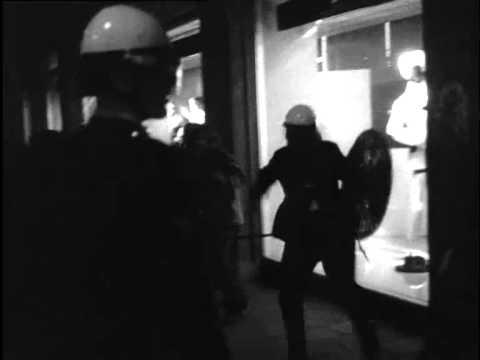 1970: Rellen na ingaan van slaapverbod voor Damslapers op de Dam te Amsterdam - oude filmbeelden