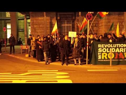 Stuttgart Gece Protestosu- 14 Mart 2018. SimurgNews