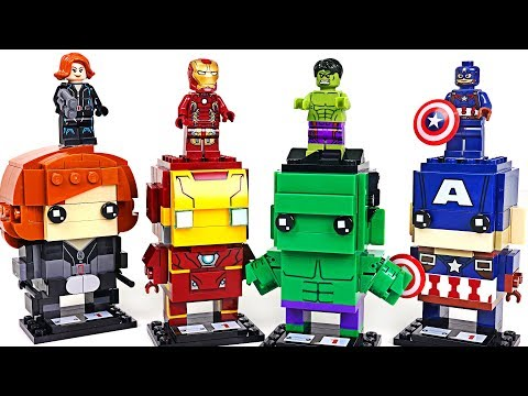 We envy Super Wings Block play! Marvel Avengers Lego BrickHeadz Hulk, Iron Man! - DuDuPopTOY