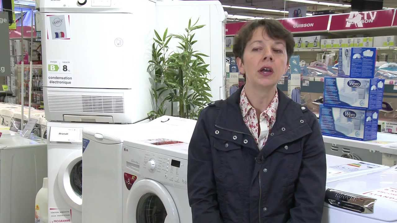Auchan comment choisir son s che linge youtube - Comment ranger son linge ...