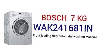 Bosch washing machine installation /Bosch wak24168IN Review