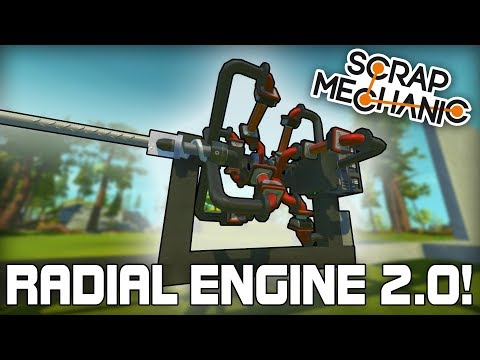 Super Powered Piston Radial Engine! (Scrap Mechanic #230)