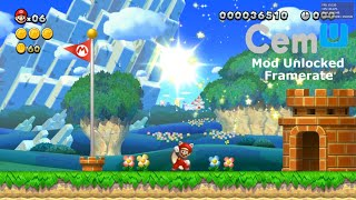 Cemu 1.17.2 Triple-Core   New Super Mario Bros U Mod FPS Desbloqueado