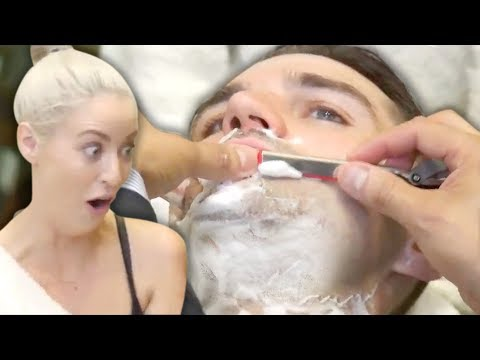 Trying a Straight Razor Shave (& Ear Hair Removal?!) at the Barber (Beauty Trippin)