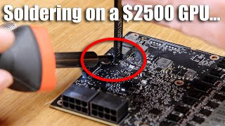 I tried to fix my broken $2500 video card myself...