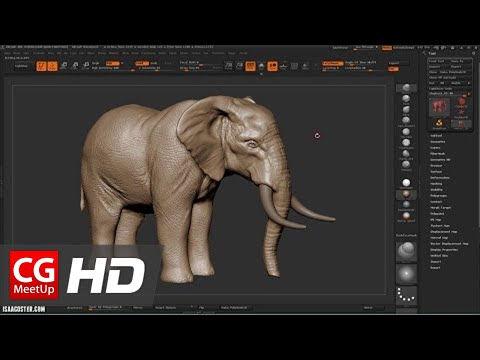 "CGI Zbrush Tutorial HD: ""Zbrush Sculpting an Elephant"" by Isaac Oster - Part 1"