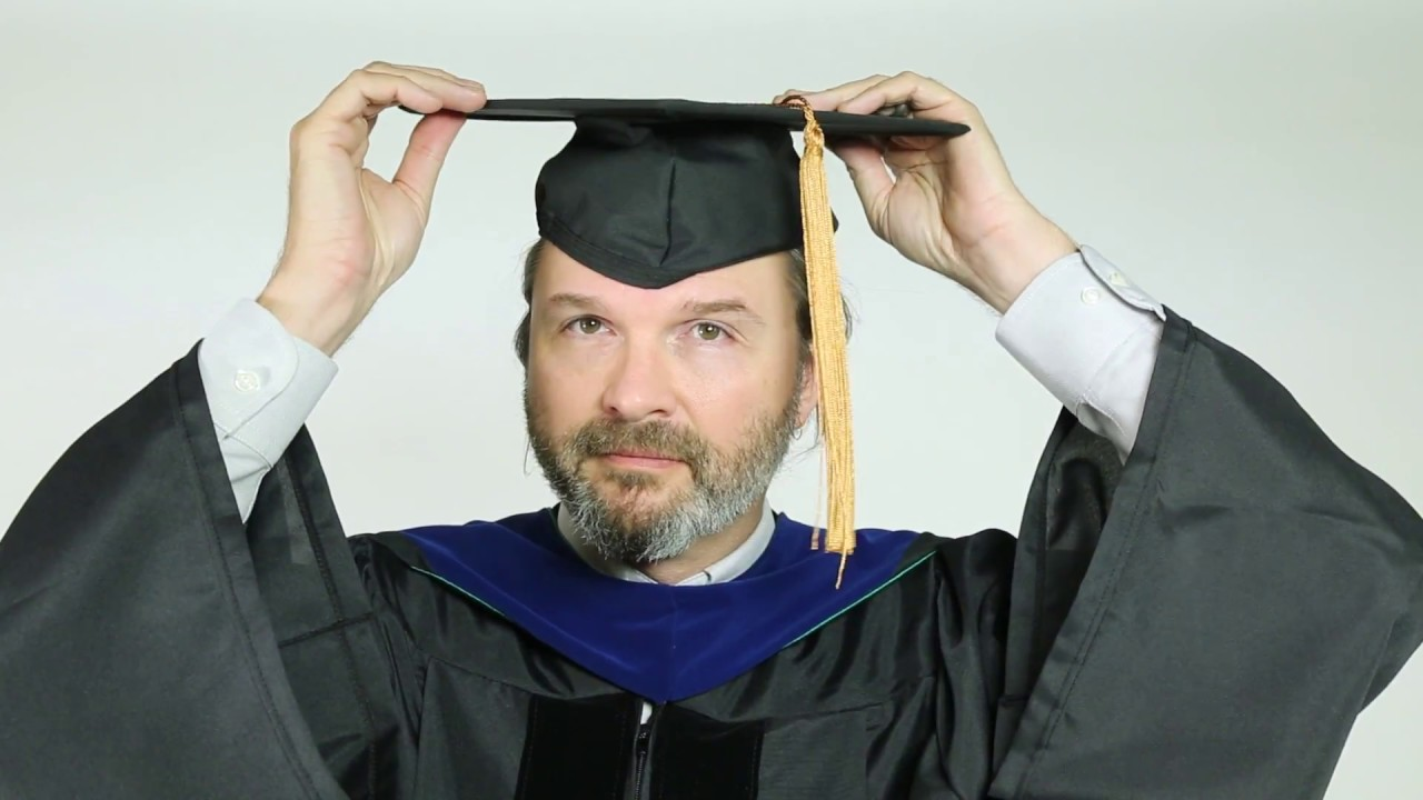 How to wear your Doctoral cap and gown - YouTube