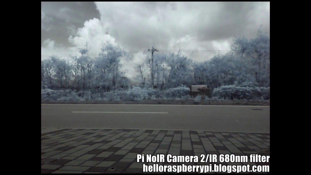 Raspberry Pi NoIR Camera V2 Filter Test #piday #raspberrypi