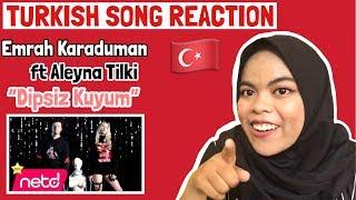 TURKISH SONG REACTION ( Emrah Karaduman - Dipsiz Kuyum feat. Aleyna Tilki ) Video
