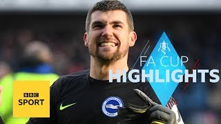 Highlights: Millwall 2-2 Brighton (4-5 pens) - FA Cup - BBC Sport