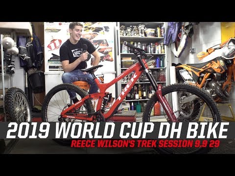 2019 World Cup DH Bike - Reece Wilson's Trek Session 9.9 29