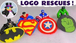 Batman Superman Hulk and Avengers Captain America Play Doh logo rescues from The Penguin TT4U