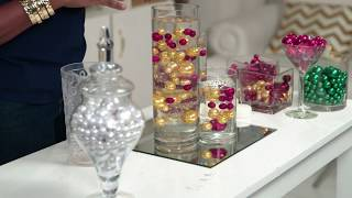 DIY Wedding Centerpiece Decor Demo Using Water Pearls - Easy Affordable Options