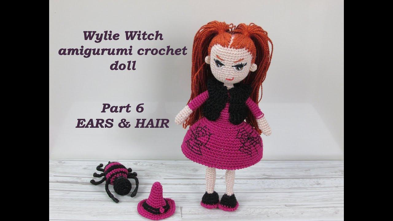 Amigurumi hair … | Bonecas de crochê, Cabelo de boneca, Padrão de ... | 720x1280