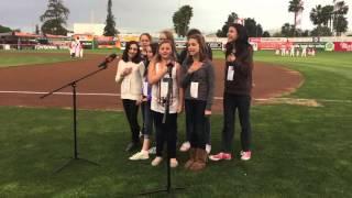 New Brighton Performing Arts National Anthem San Jose Giants game.