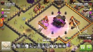 TH11 Anti Mass attack WAR BASE WITH REPLAYS & How to Destruct With Replay!#Base review
