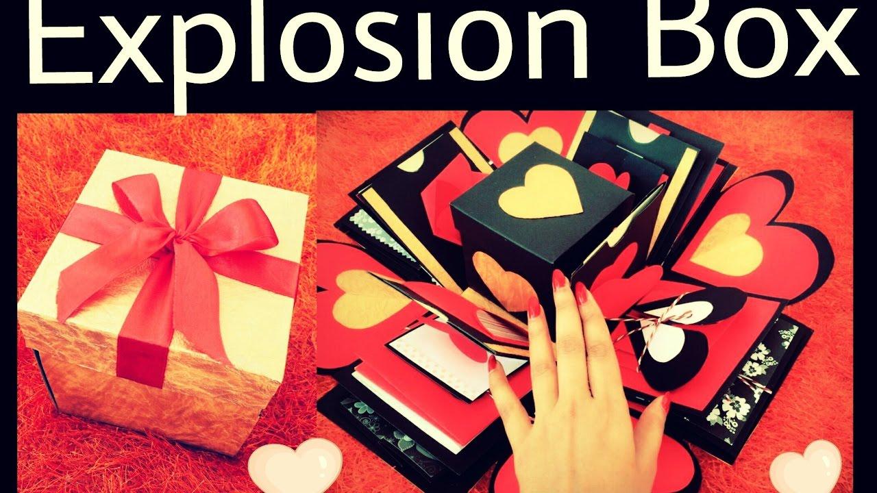 Explosion Box Anniversary Valentine S Day Gift Idea Diy Gift