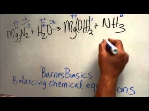 BarnesBasics:  Balance Mg3N2 + H2O, Mark 1