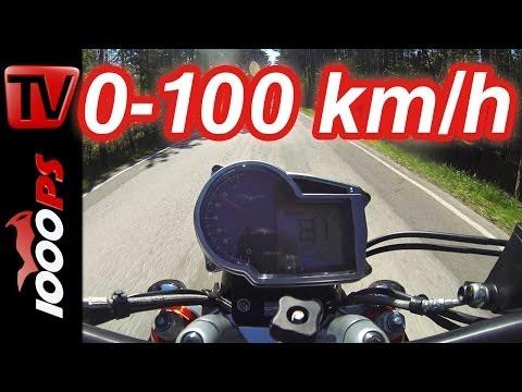 0-100km/h   MotoGuzzi GRISO 1200 8V   Beschleunigung