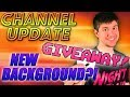 CHANNEL UPDATE - Prize Giveaway, SoCo Show, & New Background?!