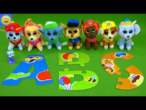 Best Learning Videos for Kids Paw Patrol Toys Teaching ABC's Alphabet Letter Sounds Numbers Video