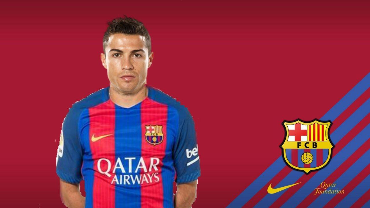 Cristiano Ronaldo Playing For Fc Barcelona Youtube