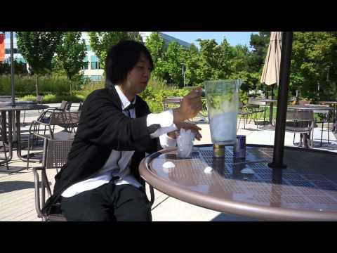 ALS Ice Bucket Challenge 2014: Yoichi Ochiai Drinking Ice Cocktail