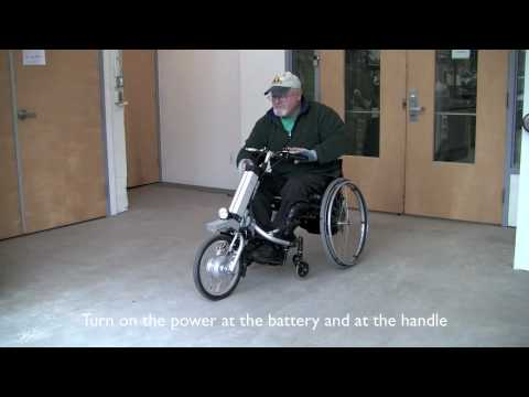 wheelchair motor bath tub chair for baby the firefly attachable electric handcycle by rio mobility - youtube