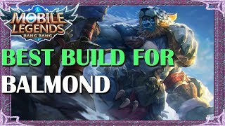 Mobile Legends Best Build In Any Situation For Balmond   Mythical Academy # 10