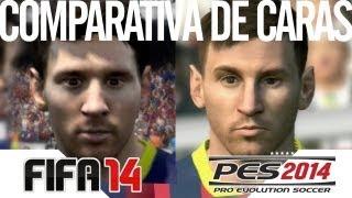 FIFA 14 VS. PES 2014 - Comparativa de caras