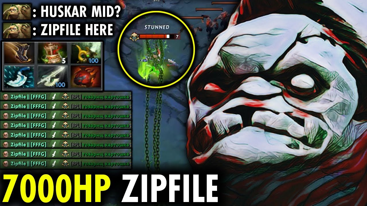 Huskar Mid? Zipfile Pudge Teaches You a lesson! - EPIC 7K HP 7.27a Dota 2 | Genius Pudge