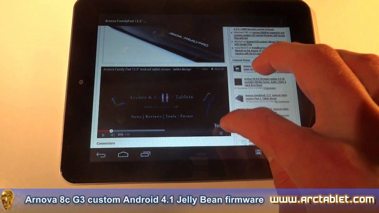 Arnova 8c G3 Jelly Bean custom firmware